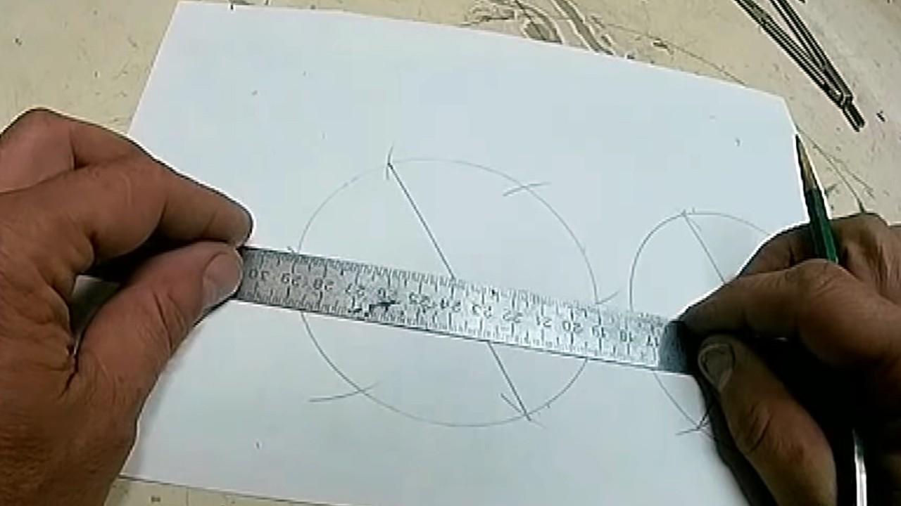 Как разделить окружность на 3, 6, 12 равных частей