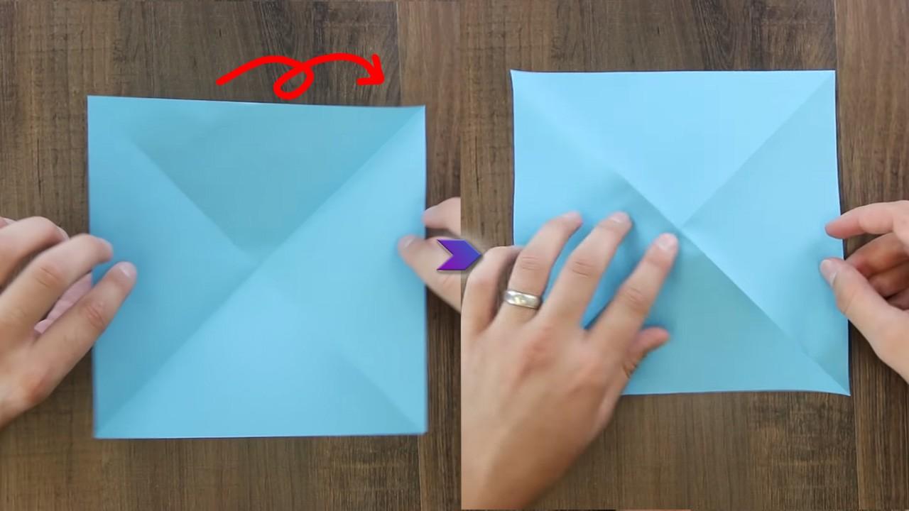 Складываем бумажного журавлика в технике оригами