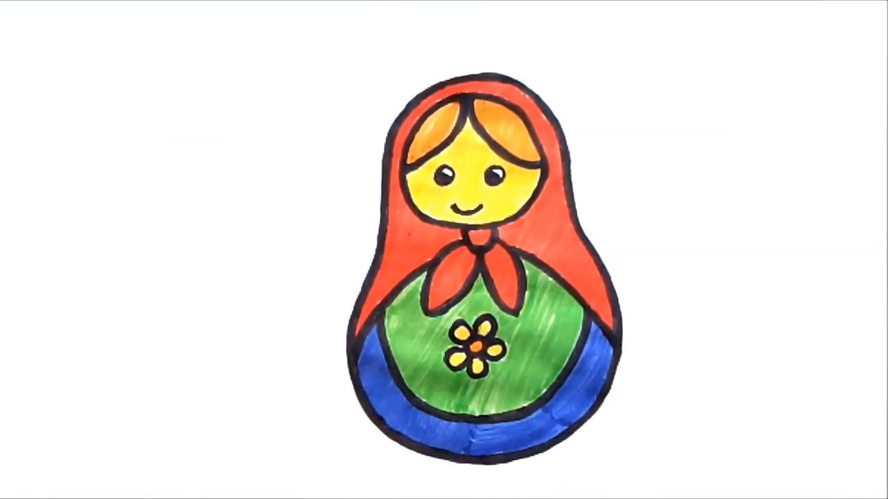 Рисуем матрешку: урок для детей