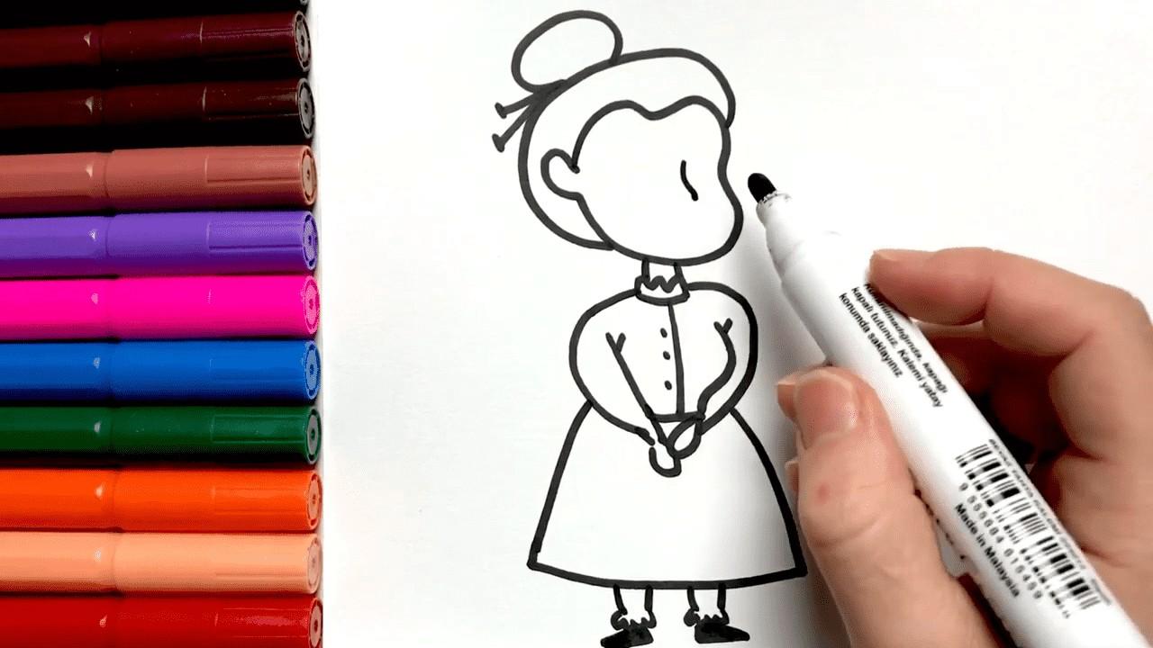 Как нарисовать милую бабушку