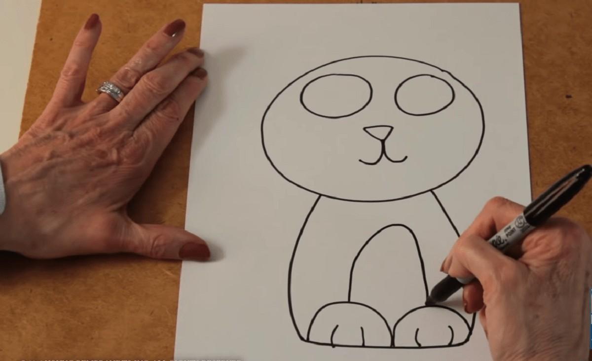 Рисуем котенка поэтапно
