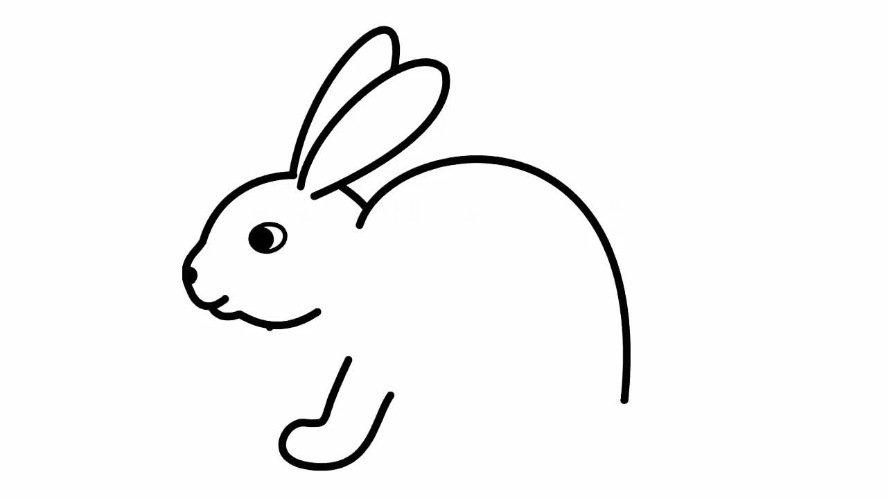 Рисуем зайчика карандашом поэтапно