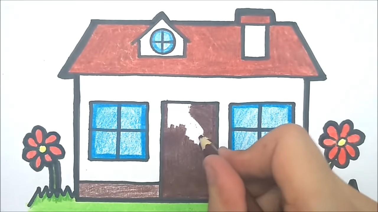 Как легко и красиво нарисовать домик