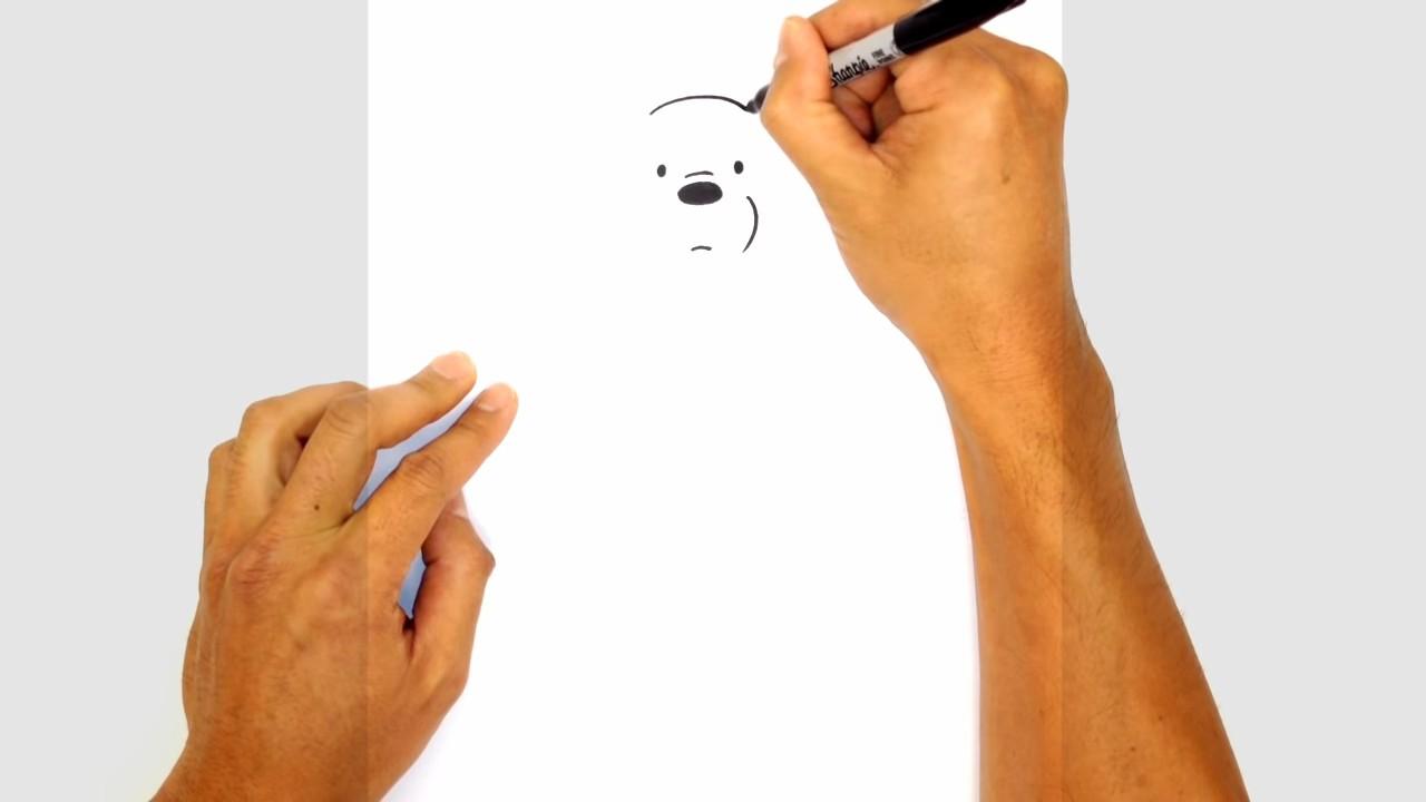 Как нарисовать белого мишку поэтапно