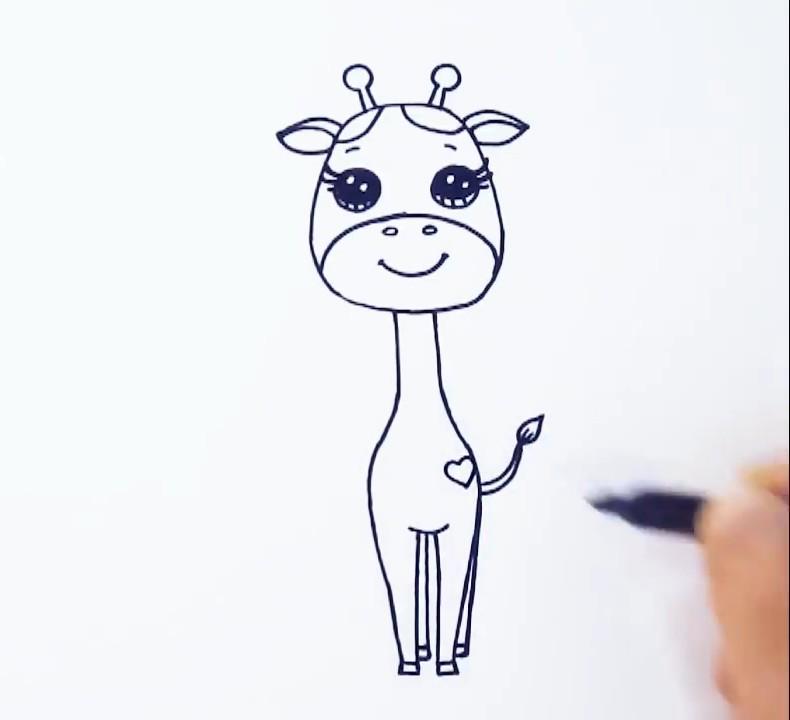 Рисуем жирафа поэтапно с ребенком
