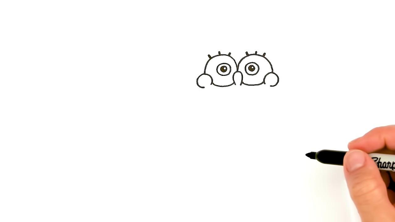 Как нарисовать Спанч Боба поэтапно