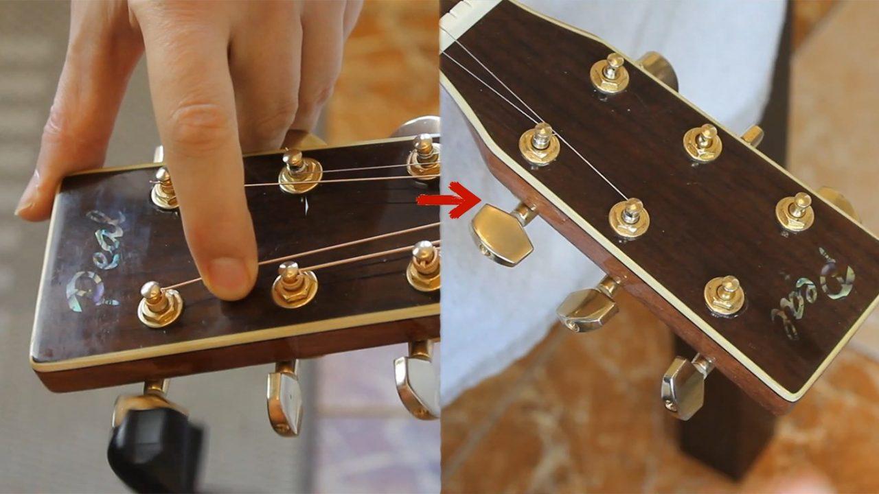 Как натянуть струны на классическую гитару