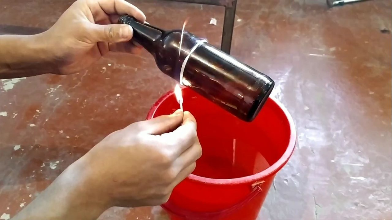 Как отрезать стеклянную бутылку и сделать из нее стакан