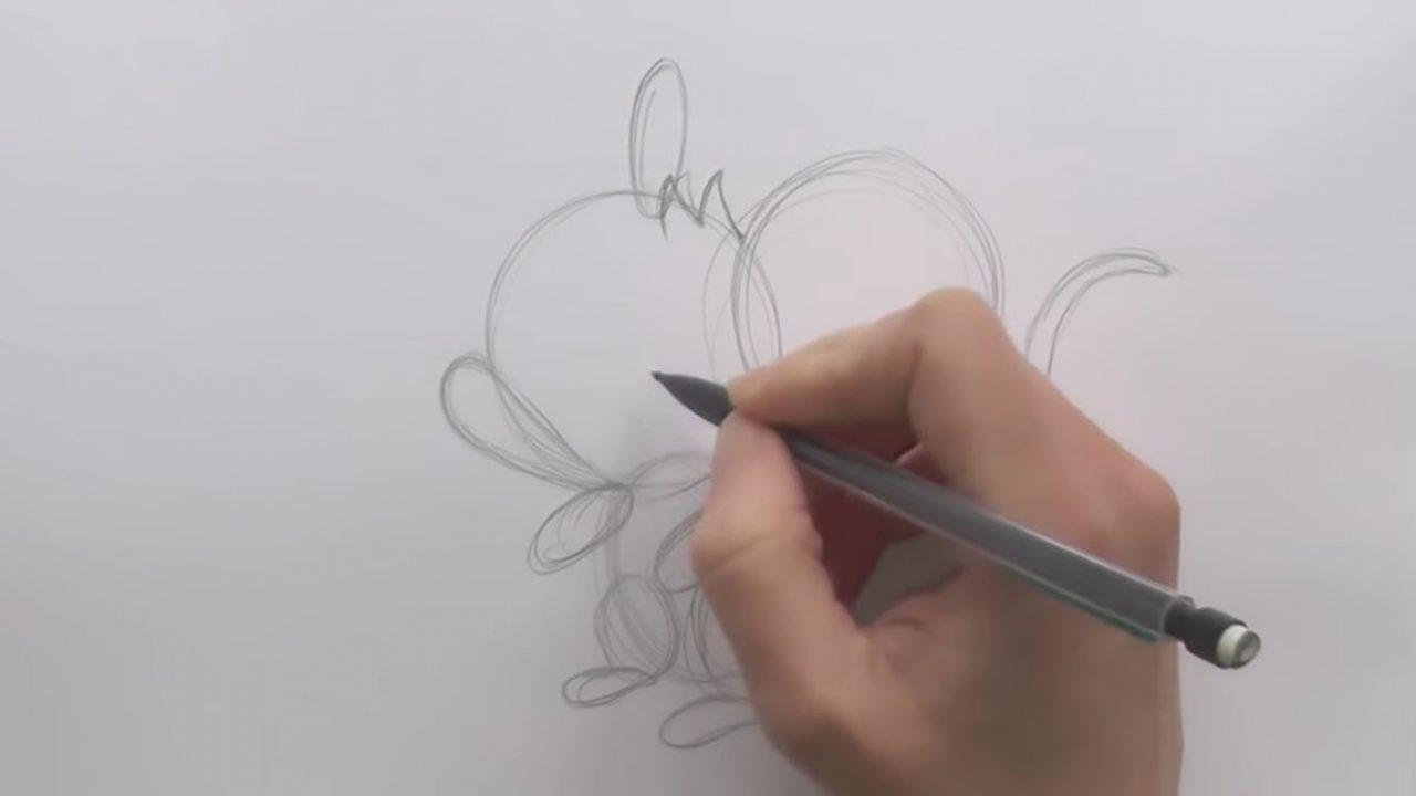 Как рисовать мышку — мультяшку