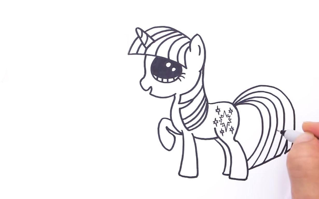 Как нарисовать Май Литл Пони Сумеречную Искорку