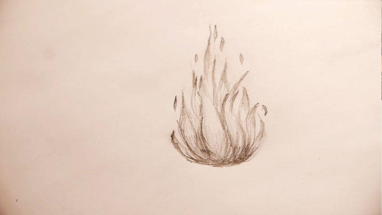Как рисуется огонь. Инструкция для начинающих