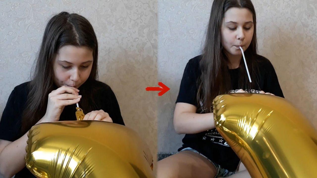 Как надуть фольгированный шар ртом