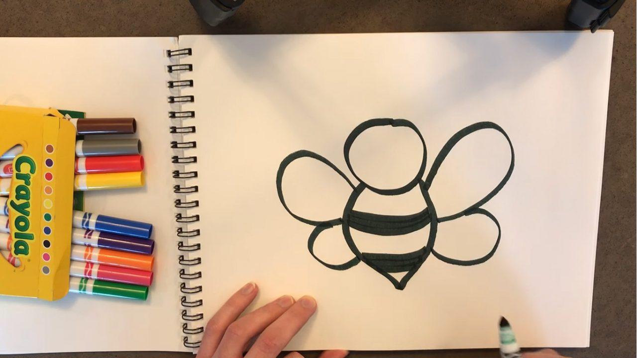 Как нарисовать пчелу. Творческий урок для детей