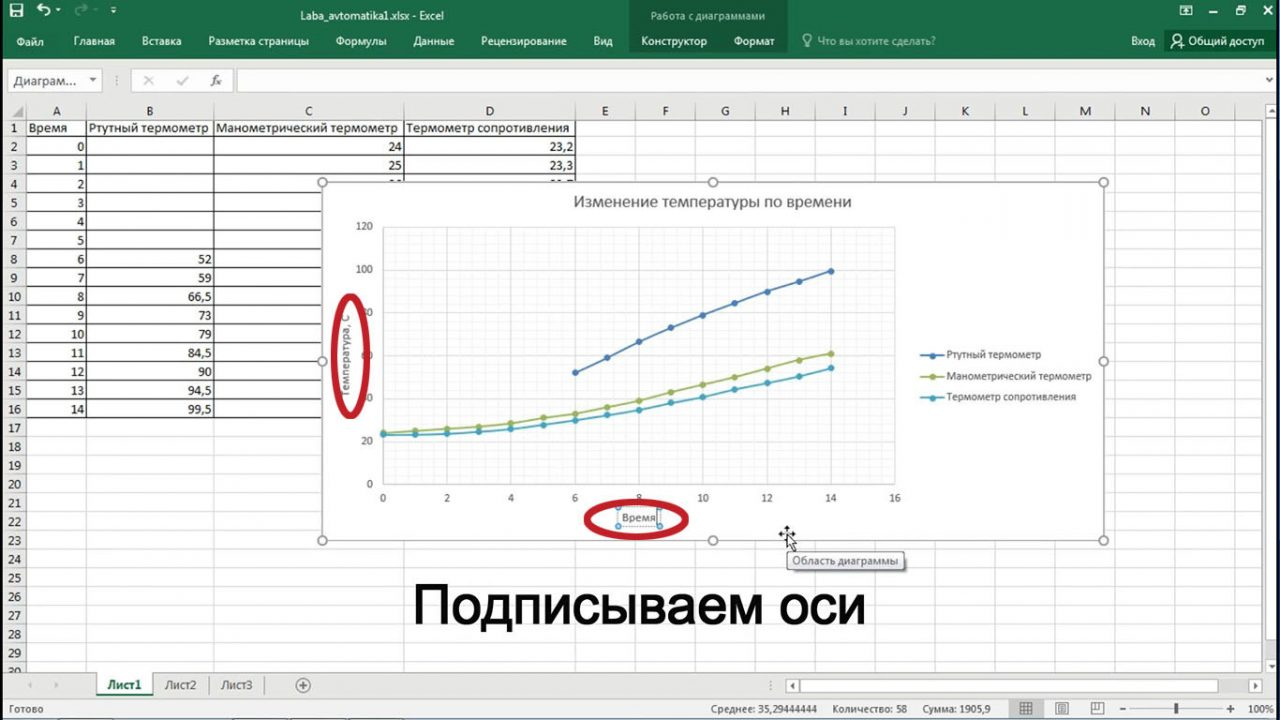 Как построить график в Word по данным таблицы с помощью Excel