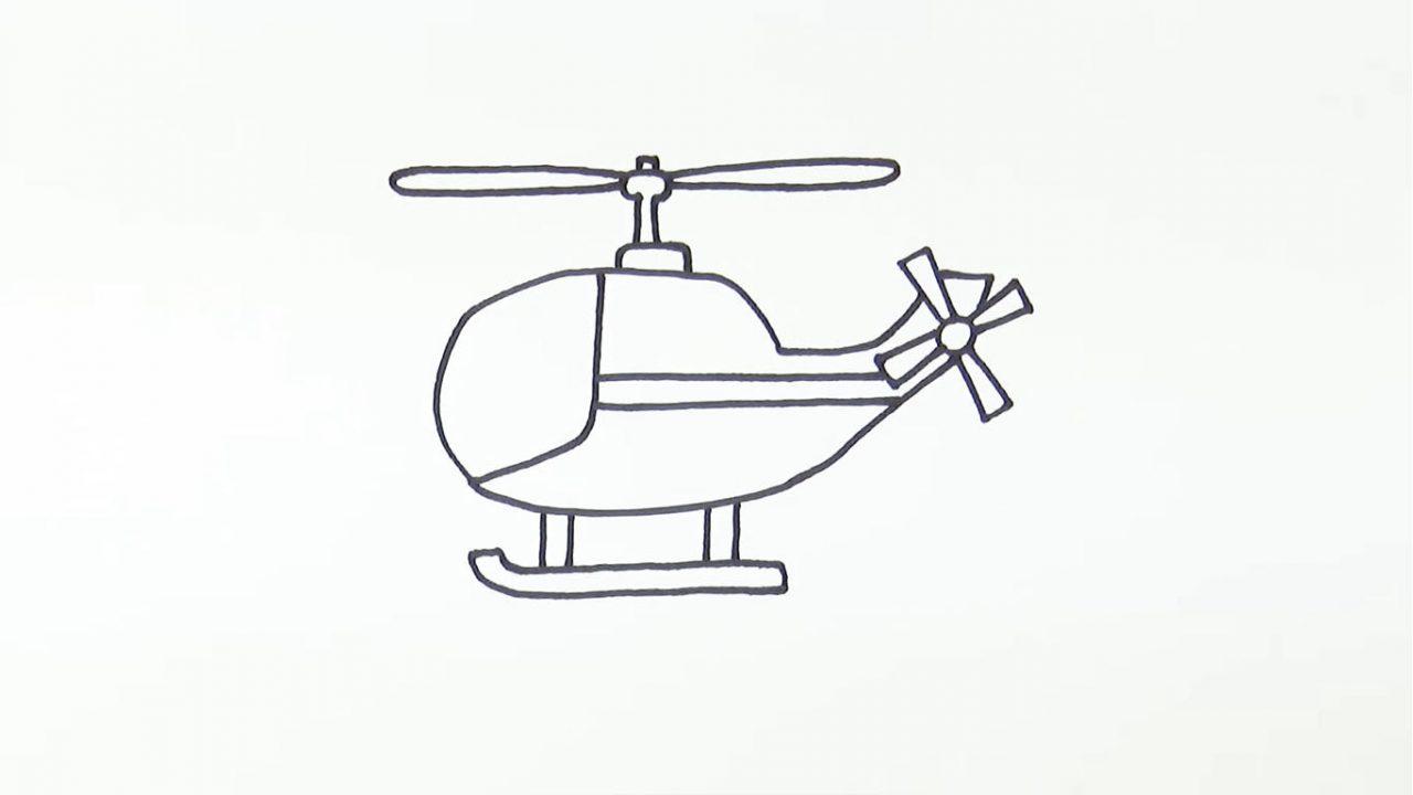 Как нарисовать вертолет карандашом