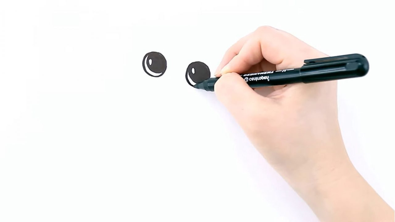 Рисуем Чебурашку карандашами или фломастерами