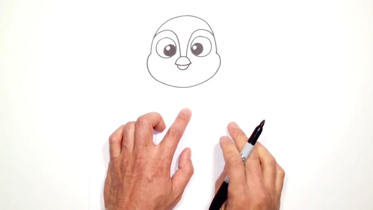 Как нарисовать пингвина фломастером или карандашом