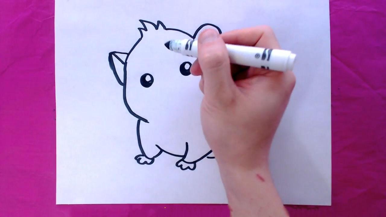 Как нарисовать красивого хомячка