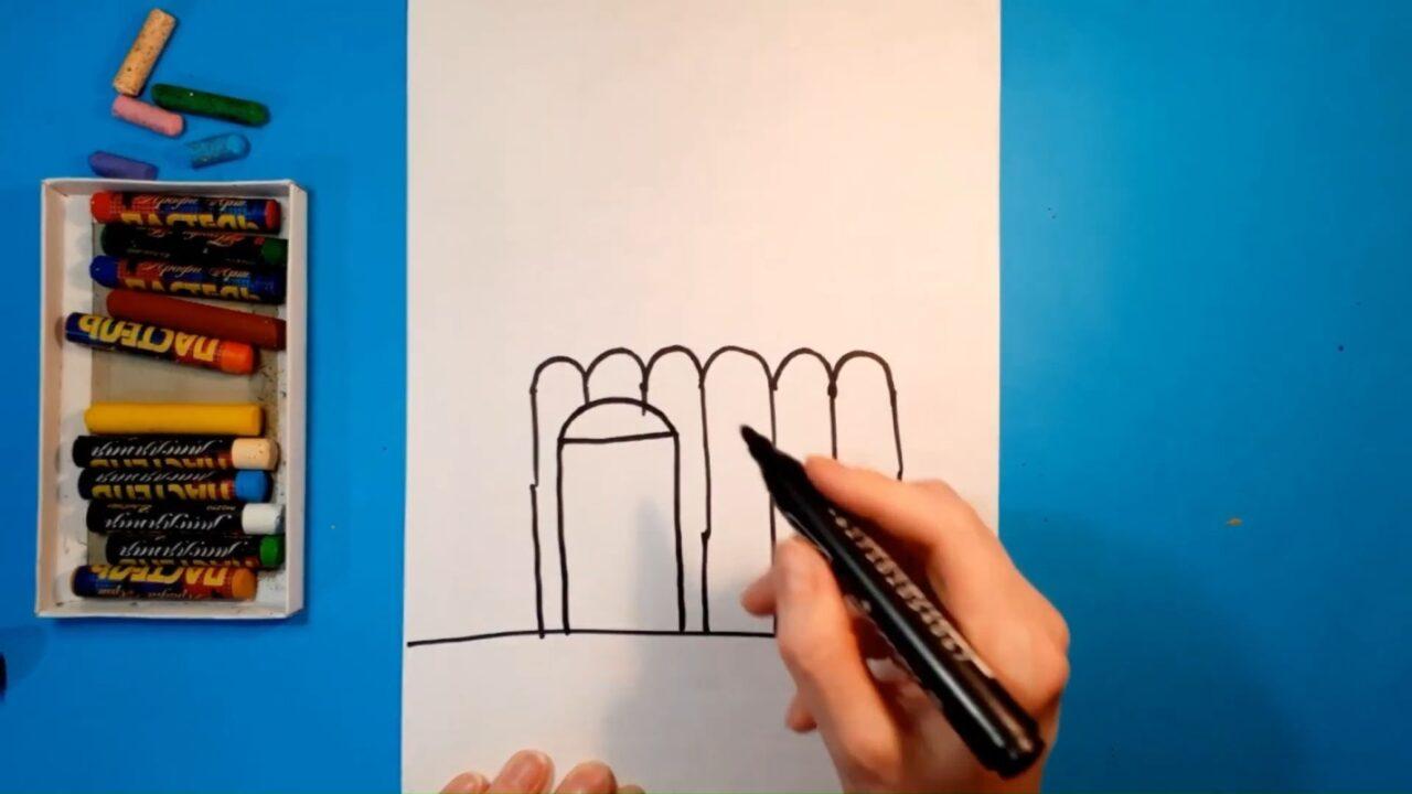 Как нарисовать церковный храм карандашами или фломастерами