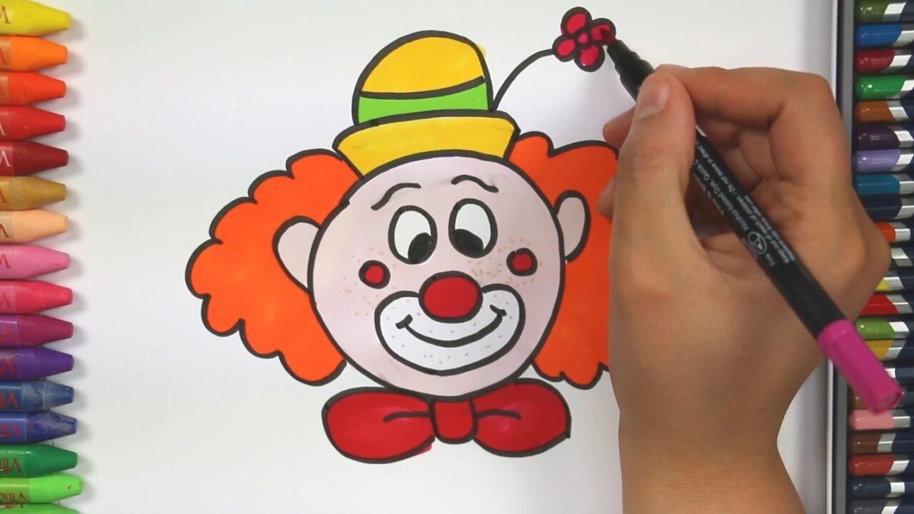 Как нарисовать веселого клоуна
