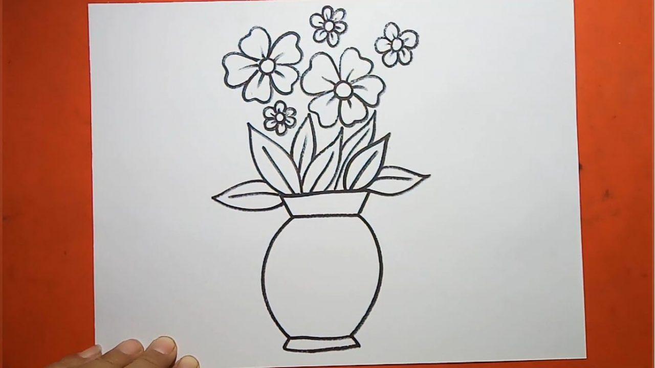 Как нарисовать вазу с цветами карандашами