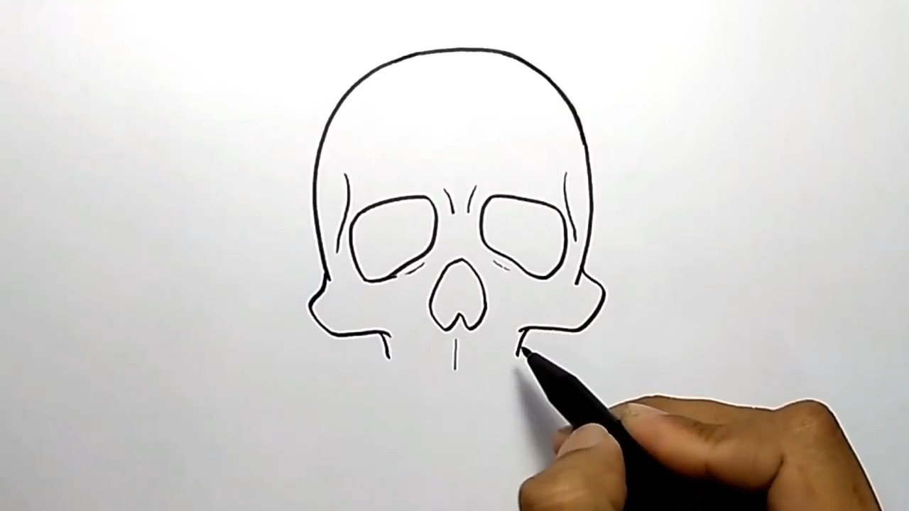 Как рисовать череп человека поэтапно