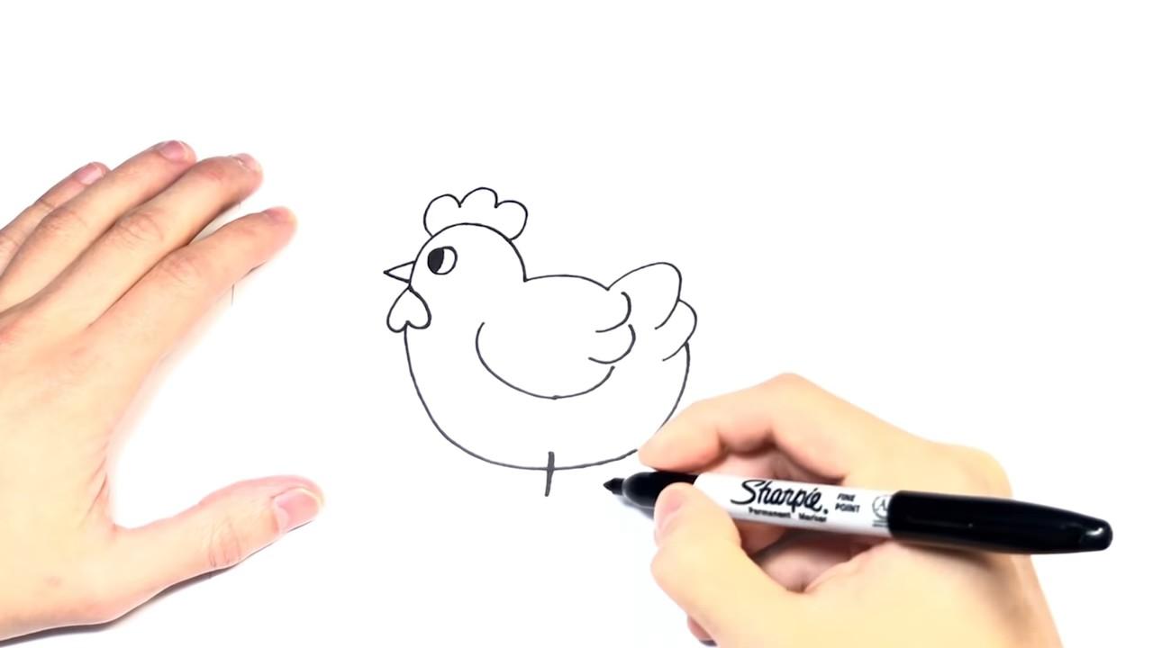 Как нарисовать курочку-несушку карандашом. Детский урок