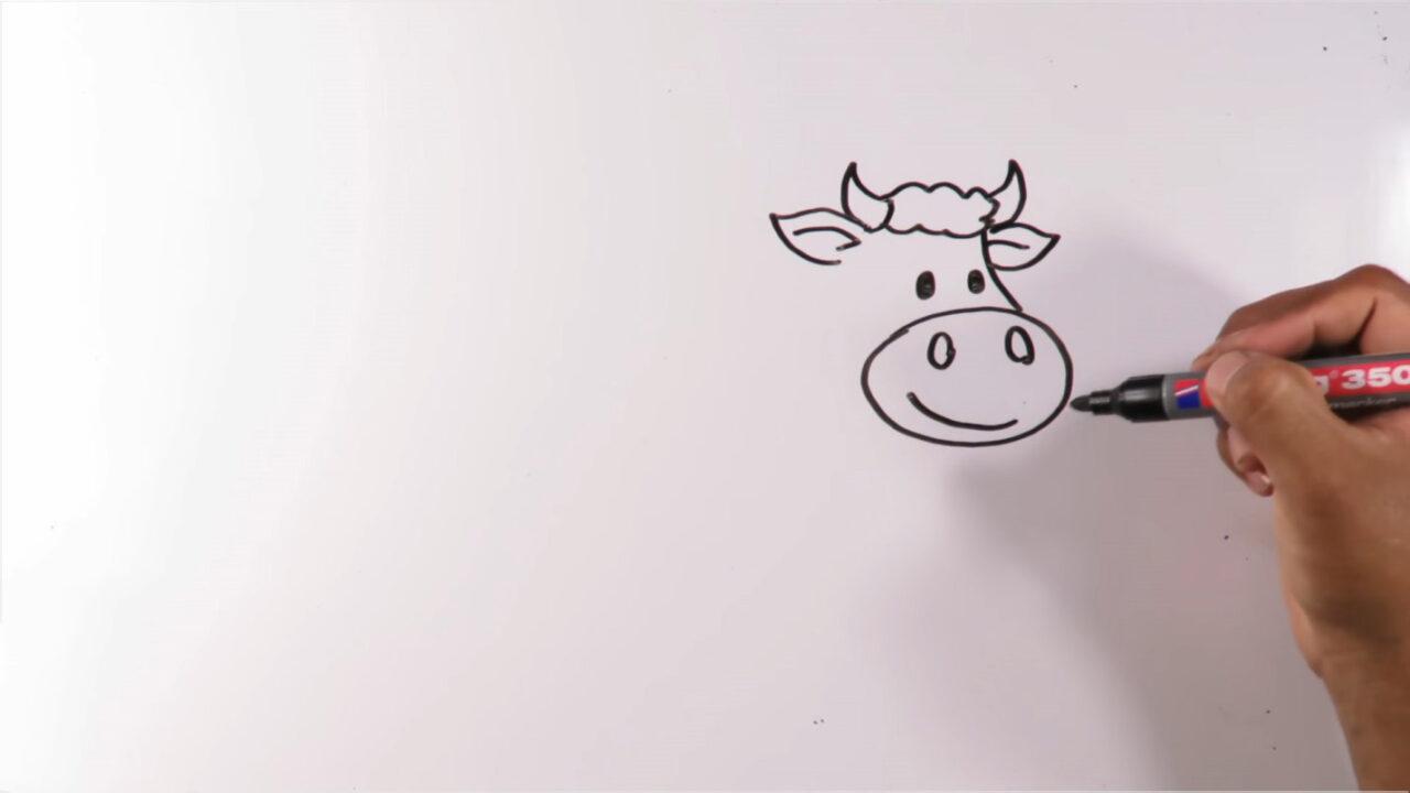 Как поэтапно нарисовать корову
