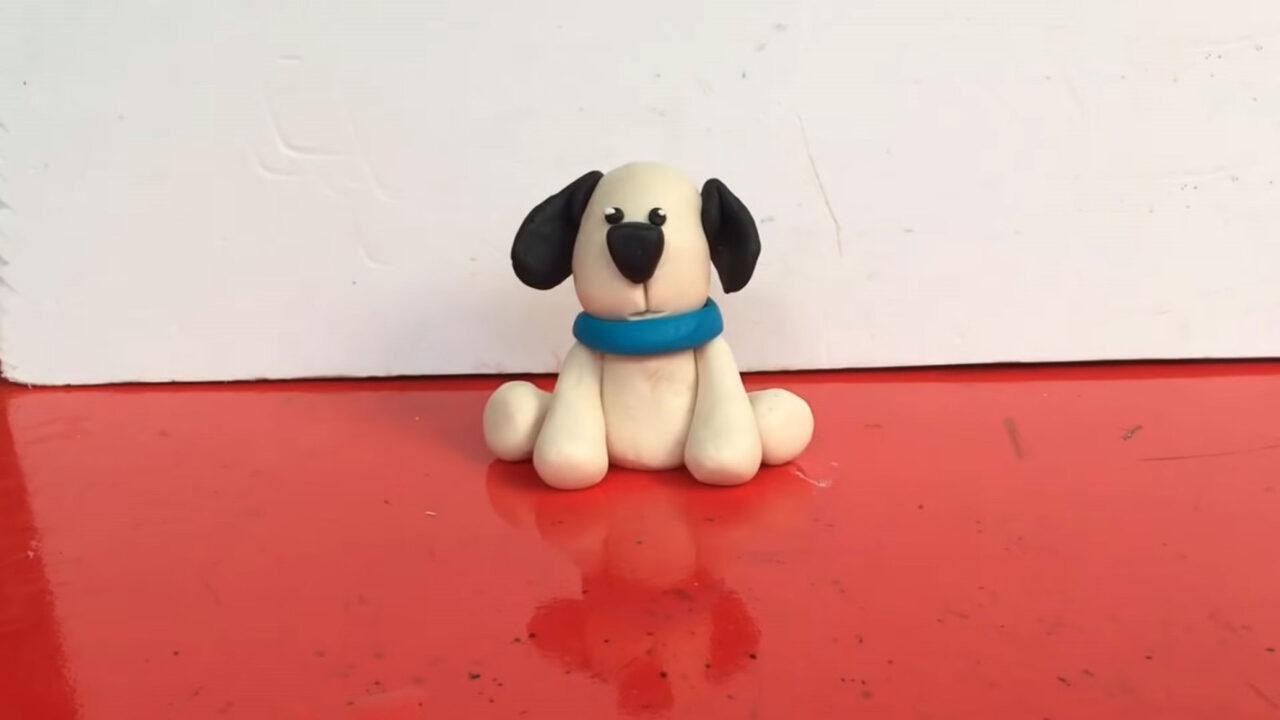 Как слепить милую собачку из пластилина