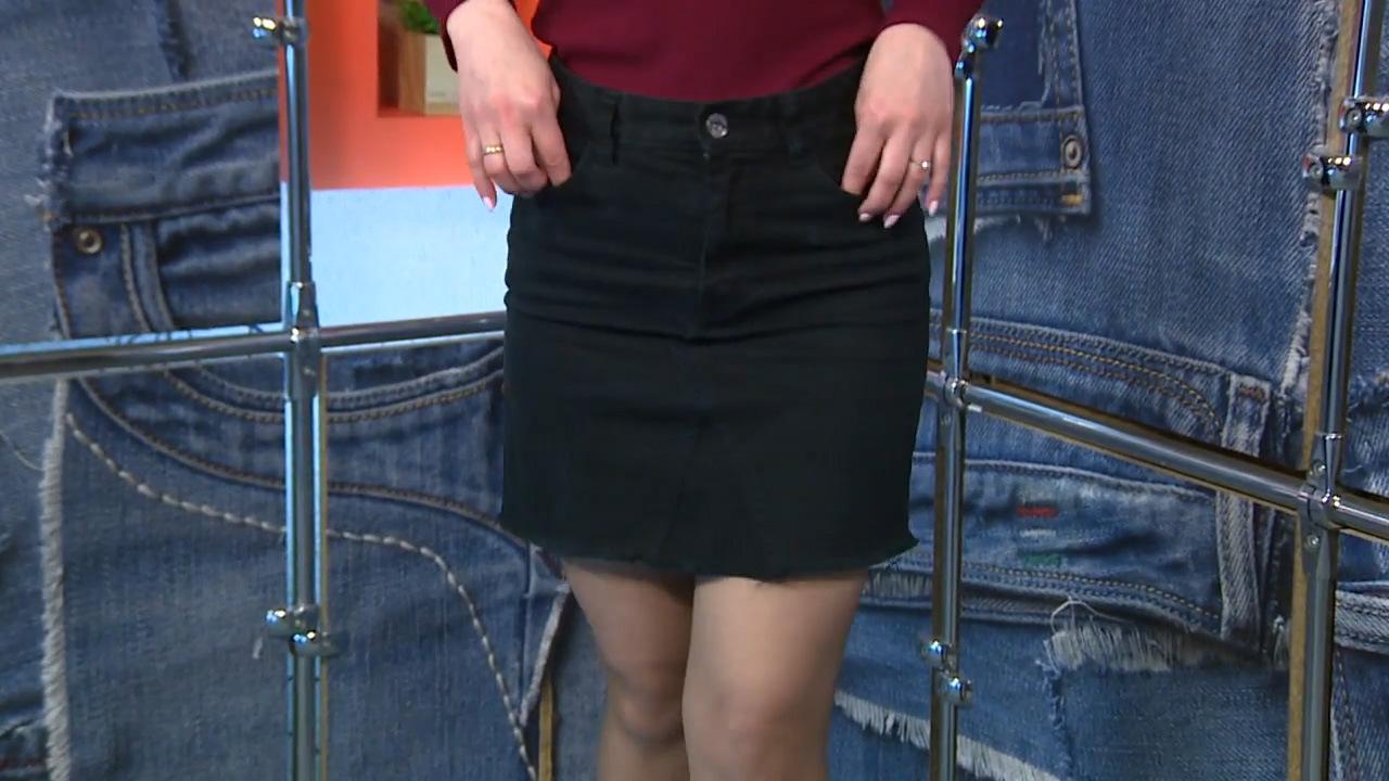Как сшить стильную юбку из старых джинсов