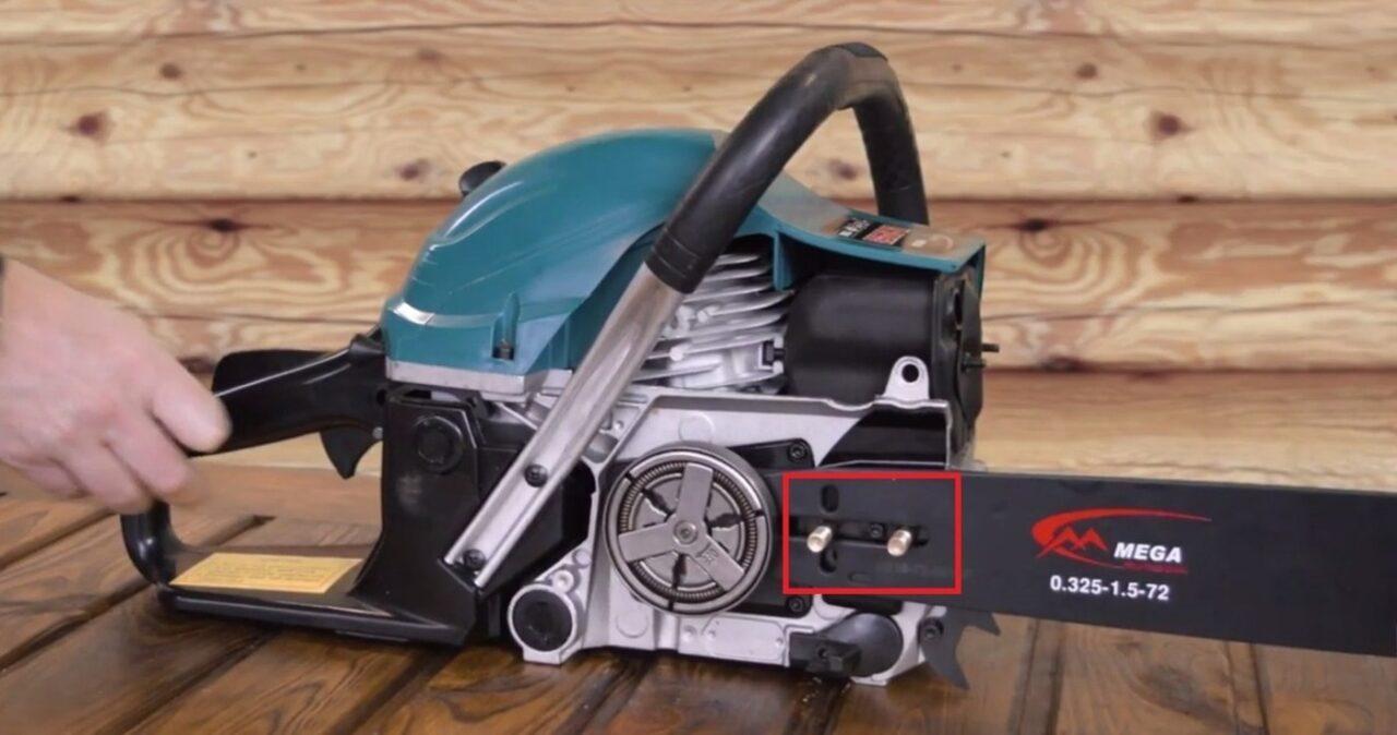 Как правильно поставить шину и одеть цепь на бензопилу