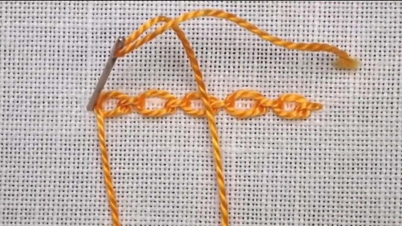 Учимся вышивать тамбурным швом