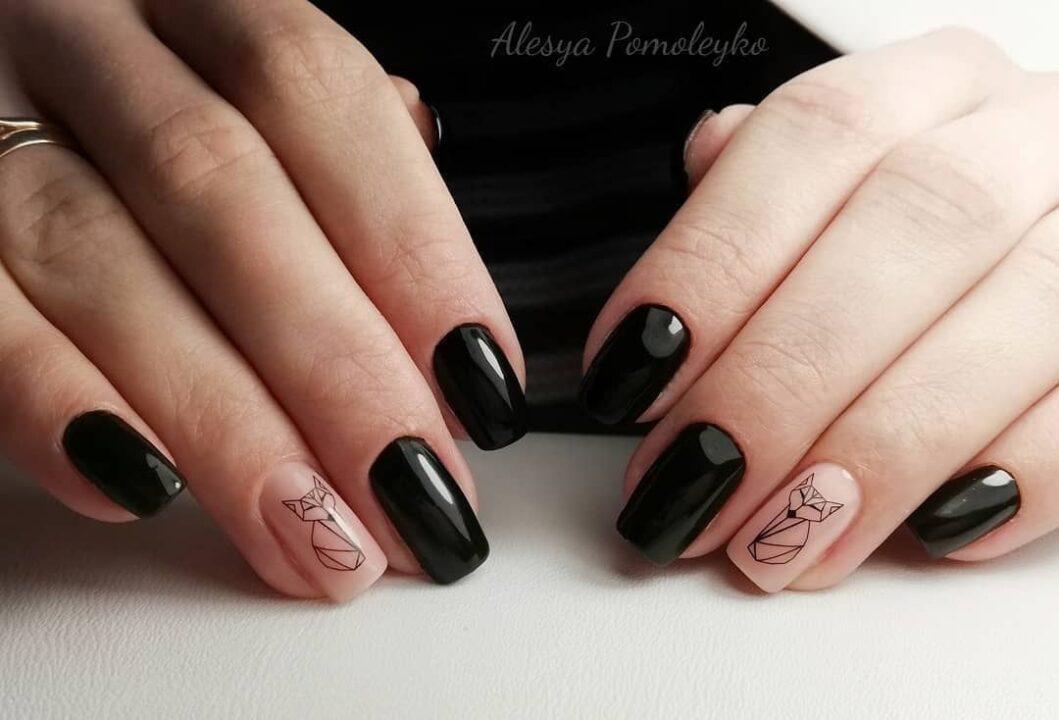 Черный маникюр: 238 фото дизайна ногтей