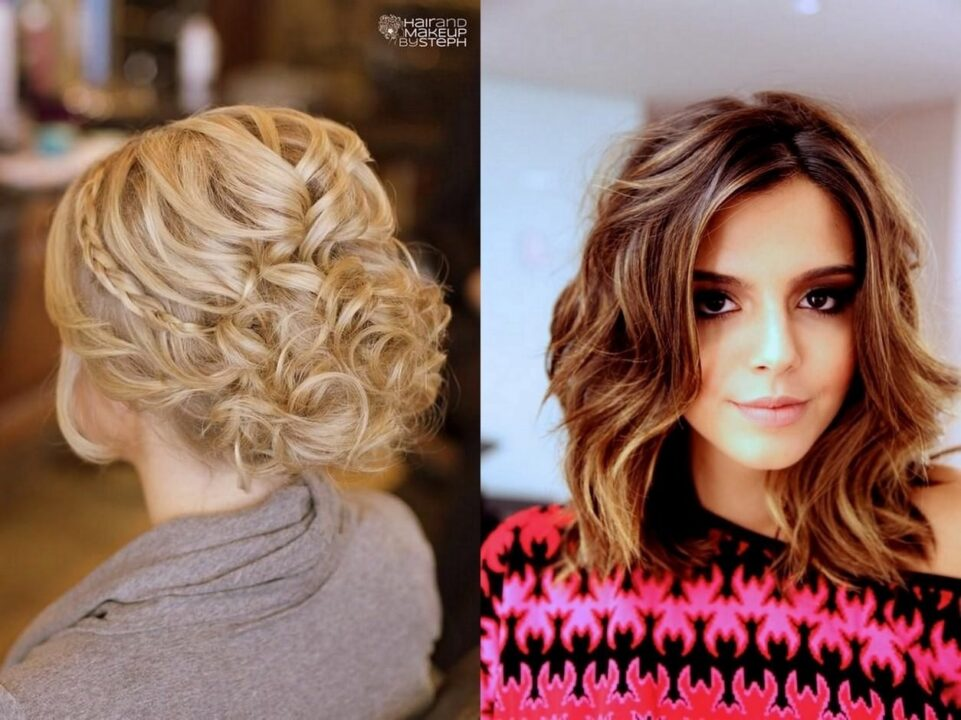 210 красивых причесок и укладок на среднюю длину волос