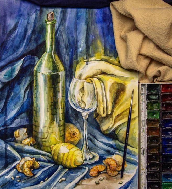 220 рисунков в жанре натюрморт