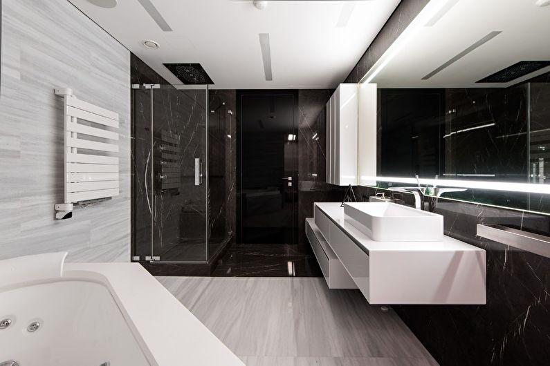 Дизайн интерьера ванной комнаты в современном стиле. 270 фото