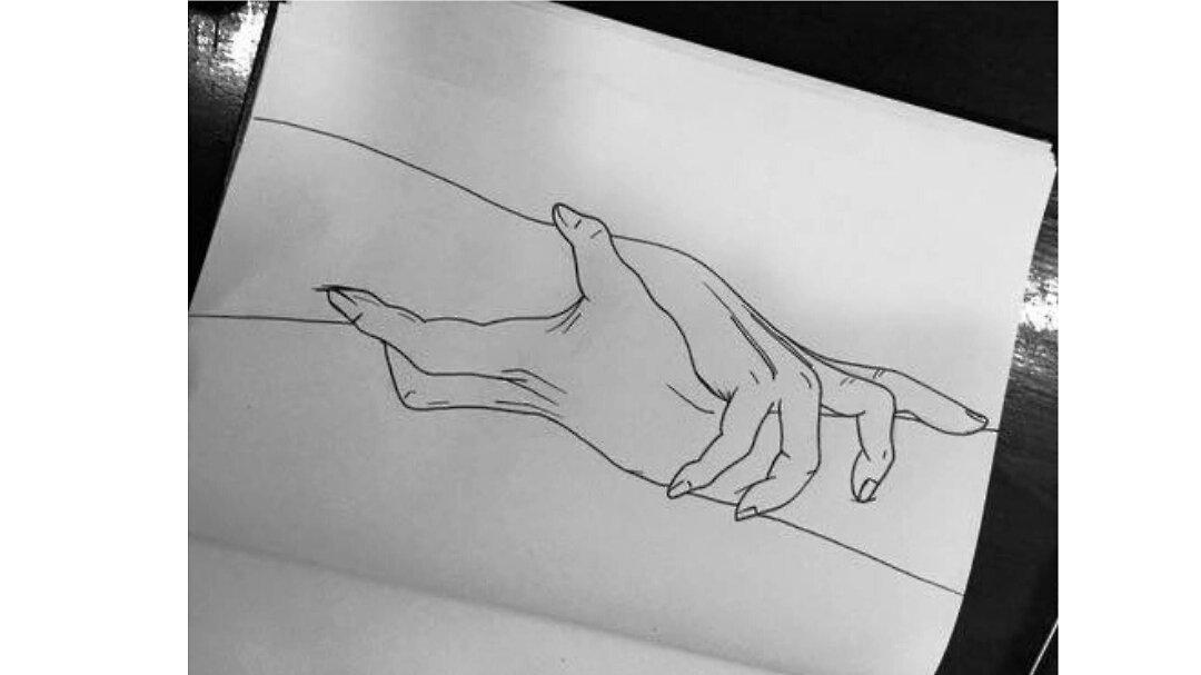 280 легких рисунков черной ручкой для срисовки