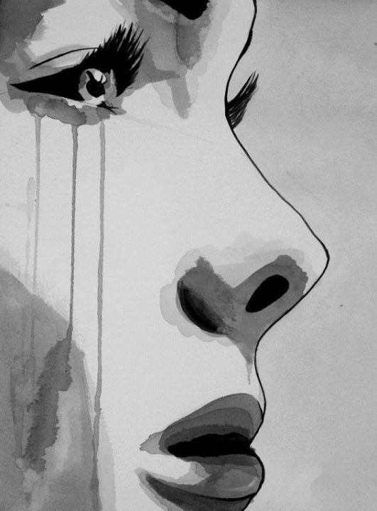 177 грустных, депрессивных рисунков для срисовки. Легкие и со смыслом