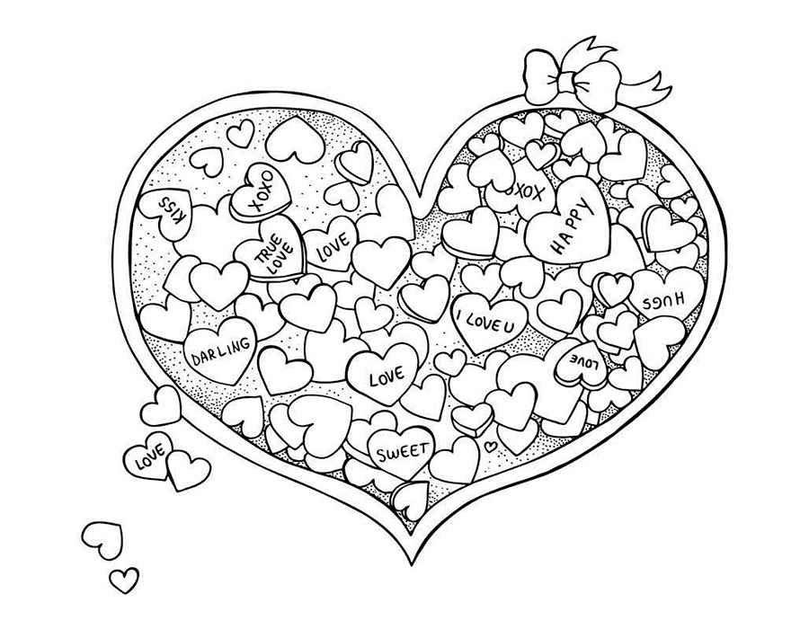 290 легких картинок-рисунков про любовь для срисовки