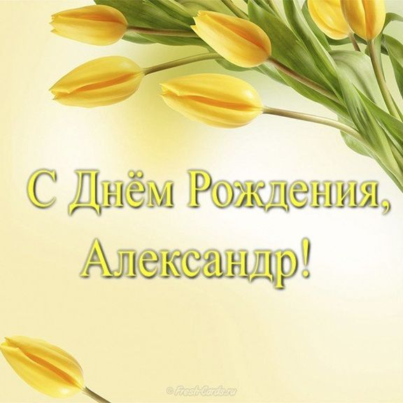 106 открыток Александру с поздравлениями на день рождения