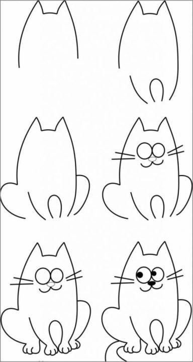 210 детских рисунков для срисовки карандашом и не только