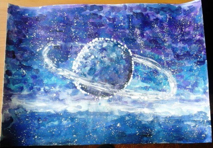 200 крутых рисунков планет и космоса