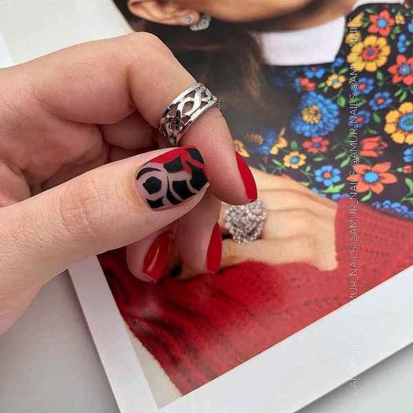 250 фото маникюра на ногти квадратной формы