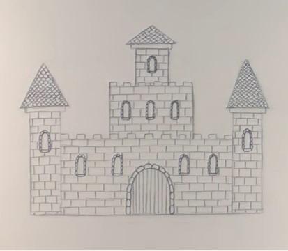 200 рисунков замка для детей и взрослых