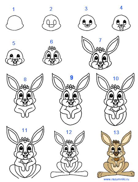 107 картинок с нарисованными зайчиками