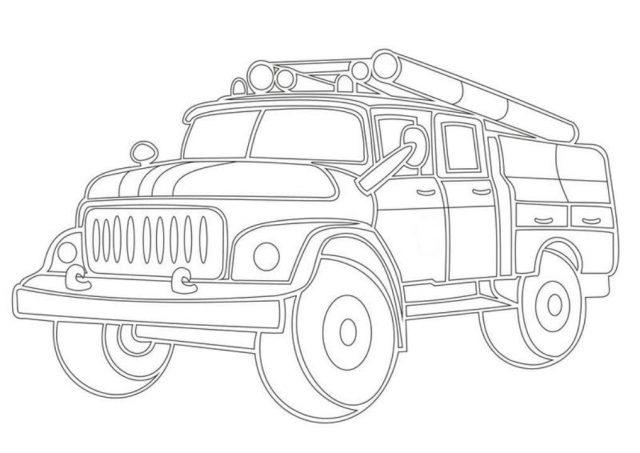 Как нарисовать пожарную машину или пожарного. 100 рисунков