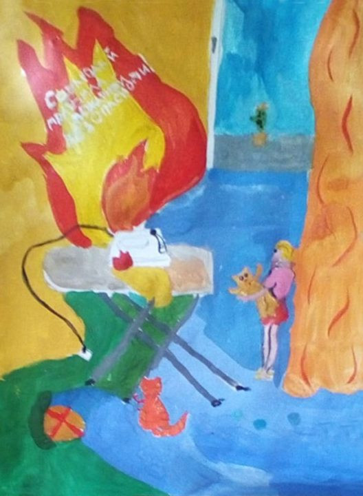 27 рисунков на тему пожарной безопасности для детей