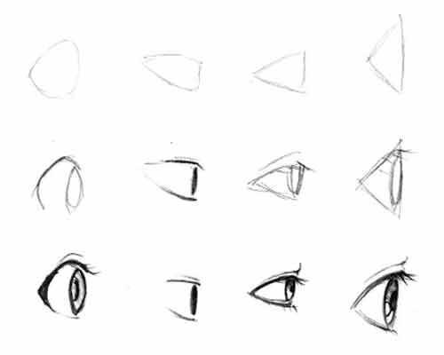 Аниме глаза: 170 картинок для срисовки
