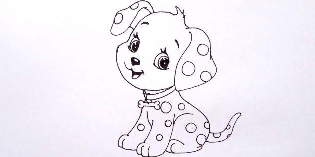 180 рисунков собаки для детей