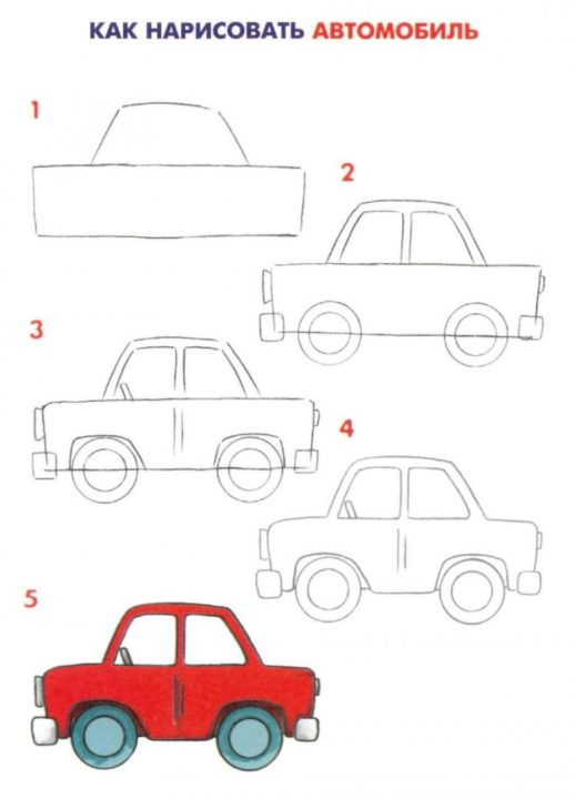 125 рисунков машины для детей